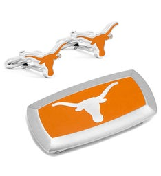 Texas Longhorns Cufflinks and Money Clip