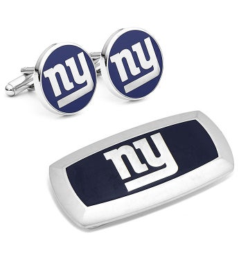 New York Giants Cufflinks and Money Clip