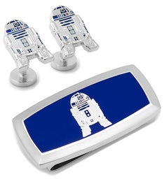 R2D2 Cufflinks and Cushion Money Clip Gift Set