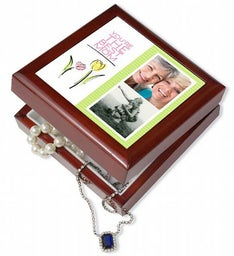 Personalized Tulips Keepsake Box