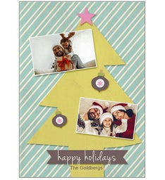 Single Custom Glossy Baubles Greeting Card