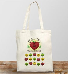 Personalized Work of Art Tote Bag