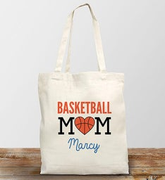 Personalized Sport Mom Tote Bag