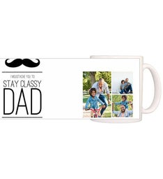 Personalized Moustache Dad Magic Mug