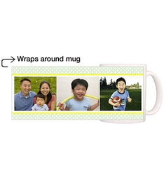 Personalized Dad Circle Motif Magic Mug