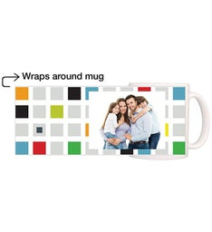 Personalized Colored Blocks Magic Mug