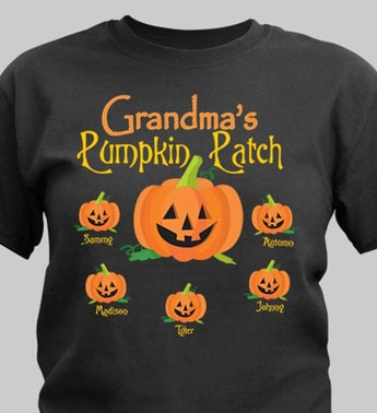 Personalized Pumpkin Family T-Shirt