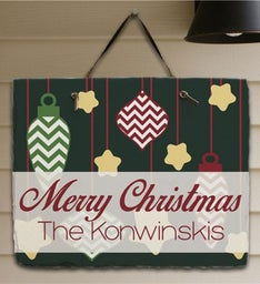 Personalized Merry Christmas Slate Plaque