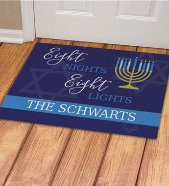 Personalized Eight Nights Eight Lights Doormat