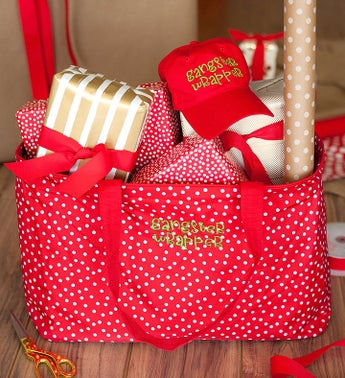 Red Scattered Dot Wrapper Ultimate Tote