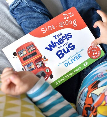 Personalized Wheels on the Bus Audio Board Book