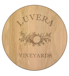 Personalized 18 Lazy Susan Oak Wine Barrel