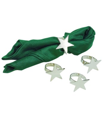 Personalized Set Of 4 Star Shaped Napkin Rings