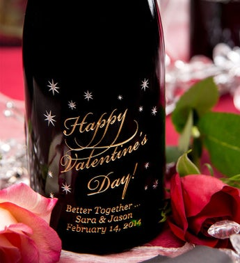 Happy Valentine's Day Personalized Wine Bottle
