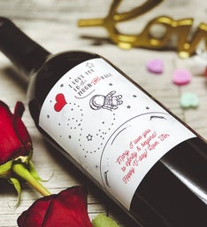 To The Moon Personalized Labeled Wine