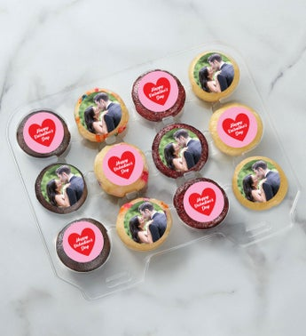 12-24 Mini Personalized Valentine's Day Cupcakes