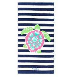 Personalized Turtle Stripe Towel