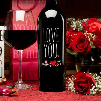 Love You Wine Bottle