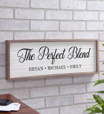 Personalized The Perfect Blend Wall Décor