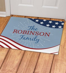 Personalized Patriotic Doormat