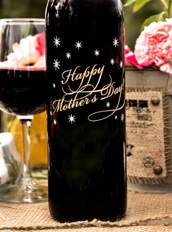 Classic Happy Mother's Day Wine Bottle
