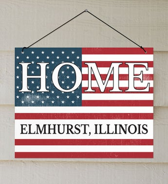 Personalized Patriotic Home Wall Sign