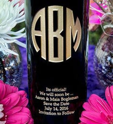 Original Monogram Personalized Wine Bottle