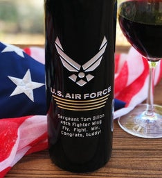 The Air Force Personalized Wine Bottle