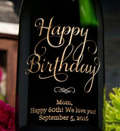 Another Joyful Birthday Personalized Wine Bottle