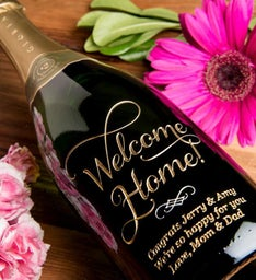 Joyful Welcome Home Personalized Wine Bottle