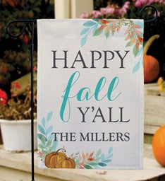 Personalized Happy Fall YAll Garden Flag