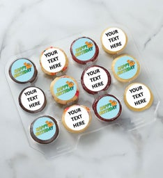 12-24 Mini Custom Text Birthday Dino Cupcakes