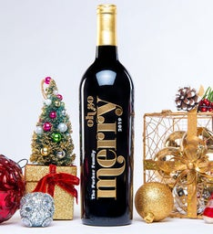 Personalized Oh So Merry Wine Bottle